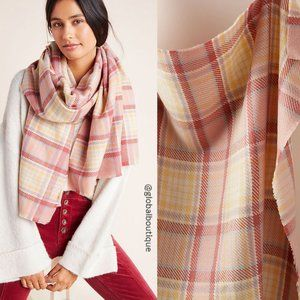HTF NWT ANTHROPOLOGIE Cordelia Plaid Scarf